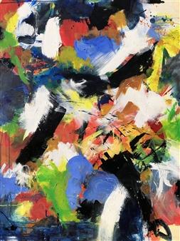KEO - Explosante Fixe II Acrylic & Ink on Canvas, Paintings