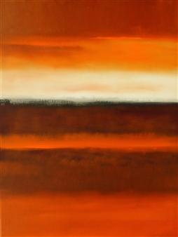 María de Echevarría - Fields #17 Oil over Acrylic on Canvas, Paintings