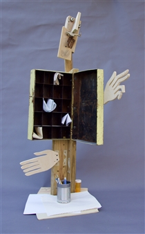 Emil Silberman - The Poet Wood & Steel, Mixed Media