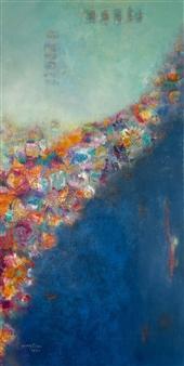Jenny Shaw - Blessings Mixed Media on Canvas, Mixed Media