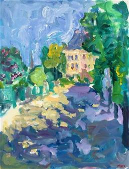Susan Marx - Jardin du Luxembourg, Paris Acrylic on Canvas, Paintings