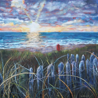 Pamela Sullivan - South Strand, Skerries Oil on Canvas, Paintings