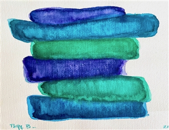 Petra Bernstein - Serenity Stack 8 Watercolor on Hahnemühle Paper, Paintings