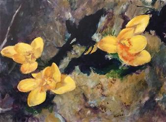 Jonathan Mann - A Painting #2 Acrylic on Canvas, Paintings