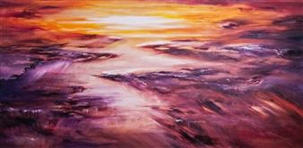 Gordana Tomic - Double Decker Sky Oil on Linen, Paintings