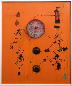 Humberto Guanipa - Nafatisse Acrylic & Mixed Media on Wood, Mixed Media