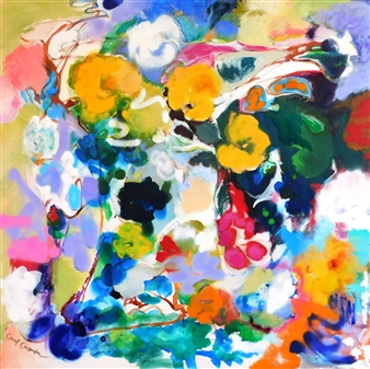 Carol Carpenter - Vines Acrylic on Canvas, Paintings