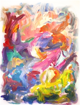 Susan Marx - Color Song Acrylic on Canvas, Paintings