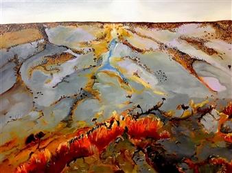 Christine Vella - Dusk Oil on Canvas, Paintings