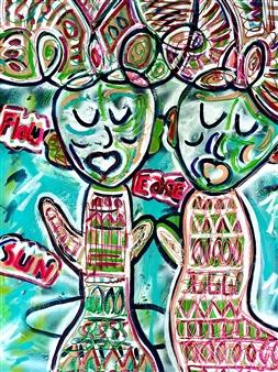 Katja van den Bogaert Anna K Art - Duality to Unity Acrylic on Linen, Paintings