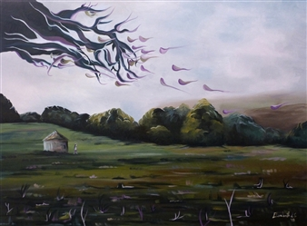 Elisabeth López - The Help Oil on Canvas, Paintings