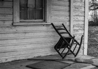 Paris Gray - Abandoned Porch Archival Pigment Print, Photography