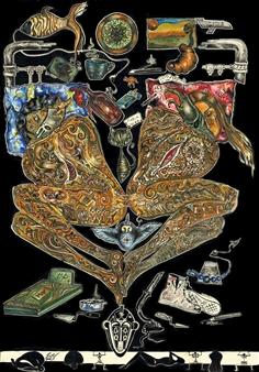 Pitanius - Tree Gouache & Ink on Paper, Paintings