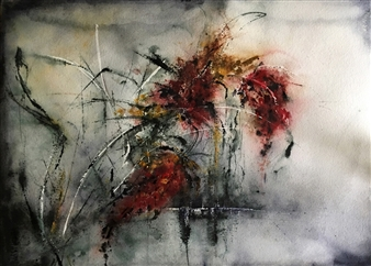 Dana Ingesson - Breathe It All In Watercolor on Paper, Paintings