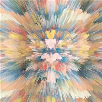 Alex Osborne - Reverse Digital Painting on Aluminum, Digital Art