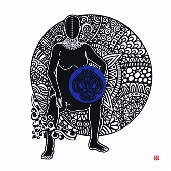 Linda Behar - Queen IV Woodblock Print, Prints