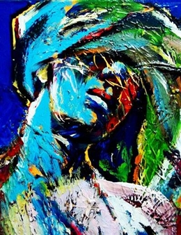 Babis (Bujar) Arizi - Feeling Oil on Canvas, Paintings