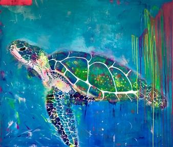 Grażyna Aneta Ochowiak - Pillar of the Earth Acrylic & Mixed Media on Canvas, Mixed Media