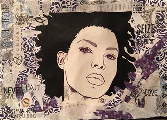 Sydnei SmithJordan - Cherish Mixed Media on Paper, Mixed Media