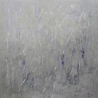 Becky Sungja Kim - Heavy Rain Oil on Linen, Paintings