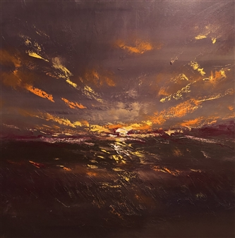 Christiane Palpant - A New And Glorious Morn Oil on Canvas, Paintings