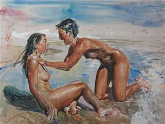 Alexandr Mischan - Here is Again Watercolor, Paintings