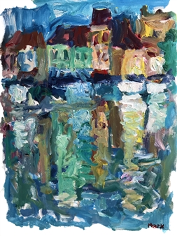 Susan Marx - The Old Port, Cassis Acrylic on Canvas, Paintings