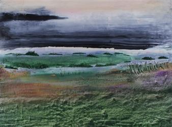 François-Jérôme Bringuier - Inhospitable 2 Oil on Paper, Paintings