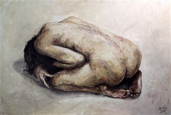 Germán Valles Fernández - The Prision Oil on Canvas, Paintings