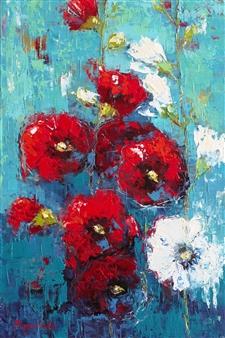 Olena Bogatska - Mallow 2 Oil on Canvas, Paintings