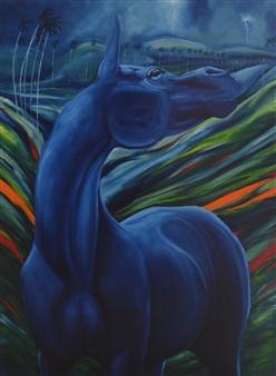 Mileidy Plata - Exitation Oil on Canvas, Paintings