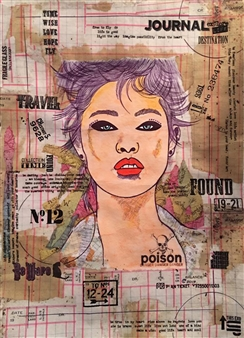 Sydnei SmithJordan - Poison Mixed Media on Paper, Mixed Media