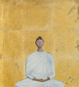 Jorge Garcia-Sainz - Yoga Oil on Canvas, Paintings