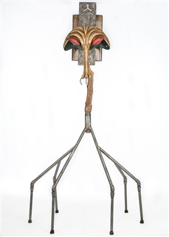 John Mark Luke - Psycho Mosquito Mixed media-metal and wood, Sculpture