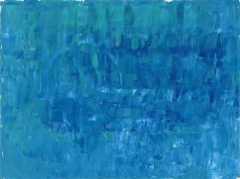 Travis Ballantyne - Blue Study Acrylic on Canvas, Paintings