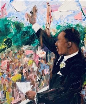Kazusa Matsuyama - The Great March on Washington Acrylic on Canvas, Paintings
