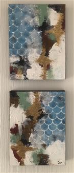 Mona Taqi - Sky Acrylic on Canvas, Paintings