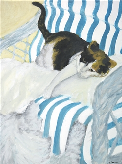 Jonathan Mann - Charlotta and Julius Acrylic on Canvas, Paintings