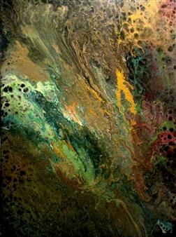 Maria Medrano - Fauna Oil, Acrylic, Gesso, Resin on Canvas, Mixed Media