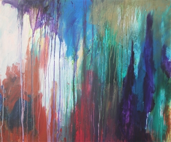 Saurabh Mohan - Deluge 7 Acrylic on Canvas, Paintings