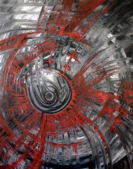 Dar Wolfe - Magic Eye Acrylic on Canvas, Paintings