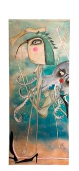 Mar De Redin - La Suerte en el Culo_A1 Acrylic & Mixed Media on Linen Canvas, Mixed Media