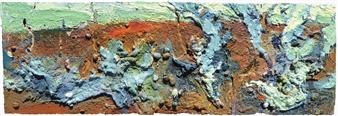 Frances Hatch - Wet Kale Shingle Acrylic & Mixed Media on Canvas, Mixed Media
