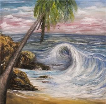 Dora Duran - Unforgiving Force Oil on Canvas, Paintings