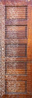 Vincent Donato - Door 2 Pigment on Re-claimed Door, Mixed Media