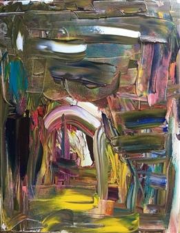 Christine Lückmann - The Heart of the Earth Oil on Canvas, Paintings
