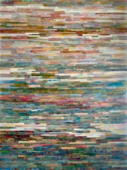 Ellen Globokar - Across Town Collage on Canvas, Mixed Media