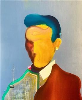 Kazusa Matsuyama - -Anonymous Portrait 05- Acrylic on Canvas, Paintings