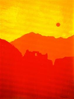 Mario España - Machu Pichu Heights Oil on Canvas, Paintings