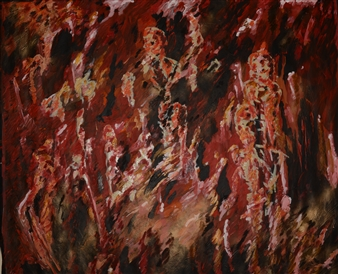 Caspar Baum - Red Souls in the Forest Oil & Acrylic, Paintings